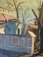 Этюд в Сверчковом переулке. Картон, мсло, 2001.